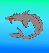 Un dauphin modifié pour notre projet de carte Pokemon fait par Kaïs (2014)