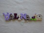 Kronem mit Herz - NAME - kleine Blume zu Schnecke - Schnecke