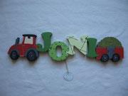 Traktor - NAME - Anhänger mit Heuladung