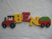 Traktor - NAME - Anhänger mit Heu