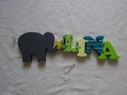 Elefant gross - Blume klein - NAME
