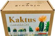growbro Kaktus, Anzuchtset inkl. Sprühflasche, Geburtstagsgeschenk, Sukkulenten, Geschenke für Frauen & Männer, Gastgeschenk,