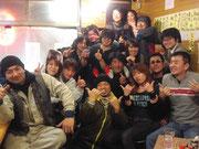 居酒屋「富士山」にて。