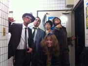 「hole」さんにて。デルタ兄弟、須田洸、チャーモと。