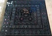TERRACO PANEL панно из стеклянной и каменной мозаики, 1200*1200*10 мм, на сетке - 45 000 руб
