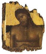 Христос во гробе. Деталь диптиха.