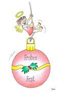 Weihnachtskarte Schaukel