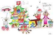 Weihnachtskarte Weihnachtsidylle