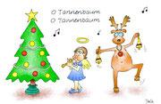 Weihnachtskarte Elchtanz