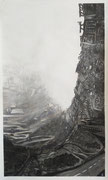 Parabola (60 x 110); charcoal on paper; fixative) AVAILABLE