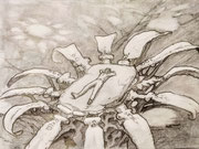 Insert randon Bossa Nova song (26 x 12 cm; pencil on paper) SOLD