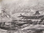 The Well (60 x 42 cm; charcoal on paper; fixative) AVAILABLE