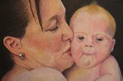 Mutterliebe   40 x 60 cm   Acryl auf Leinwand