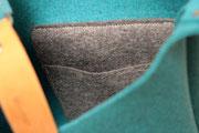 Umhängetasche aus Filz (100% Merino-Wollfilz), plastikfrei, in Deutschland hergestellt