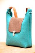 Nachhaltige Tasche aus Wollfilz (100% Wolle), plastikfrei, in Deutschland handgefertigt