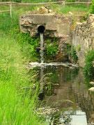 Natürlicher Abfluss der Seenkette