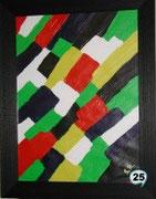 Farbspiel mit Echtholzrahmen Best. Nr. 25