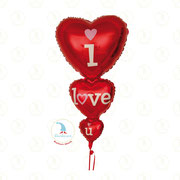 "Folienballon ""I love you XL"" - ca. 100cm  -  € 12,90"