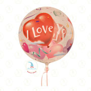 "Ballon-Bubble ""I love you"" - 22""  -  € 9,90"
