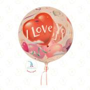 "Ballon-Bubble ""I love you"" - 22""  -  € 9,90"