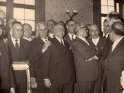 foto Archivio Avv. MASSIMO DI SUMMA -anni 50- visita a Brindisi del Presidente della Repubblica GIOVANNI GRONCHI.