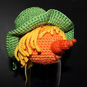 Der Kopf mit Hut vom Scheuchen-Fred ist fertig...