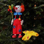 Clown Cloude wollte seine Jacke noch nicht anziehen.