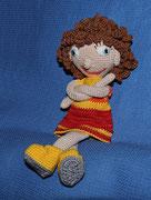 Puppe Lisa - April 2015 - Für die Haare gab es auch keine Anleitung.