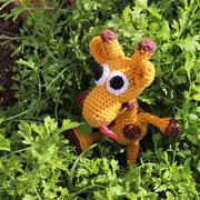 Giraffe für Emily - Ostern 2015 - ich darf im Grünen spielen