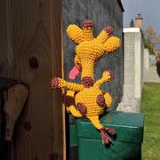 Giraffe für Emily - Ostern 2015 - auch mein Rücken ist entzückend