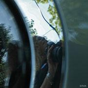 Spiegelung im Auto