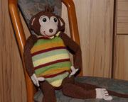 Kuschelaffe für Emily. - Dezember 2015 - Der Affe durfte mit zur OP ins Spital.