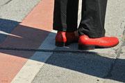Leuchtend rote Schuhe - die muß ich haben