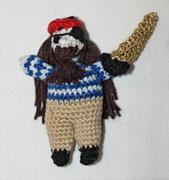 Pirat für Felix. - März 2014 - Anleitung  aus Buch: 100 kleine Häkelfiguren