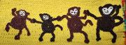 Tasche für  Emily - Jänner 2015 - Die Affenfamilie gibt sich natürlich vom Größten bis zum Kleinsten die Hand.