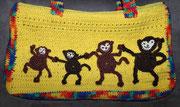 """Tasche für  Emily - Die Affen wurden gleich """"Papa, Mama, Emily und Lea"""" getauft – ggg"""