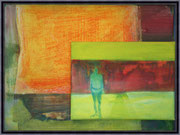 Kunst von Gregor Strunk - UNIKAT- Befrage mich 40 x 30 cm cm 430 €