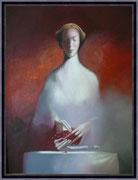 Kunst von Dimitri Vojnov - die verbotene Frucht 80 x 100 cm 1900 €