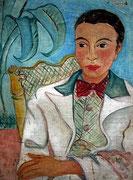 """Margrit Schweicher; Porträt ohne Titel; 1930er Jahre; Öl auf Leinwand; signiert """"Lauer"""""""