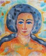 Margrit Schweicher: Portrait; Aquarell, ca. 1948