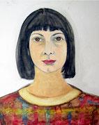 Margrit Schweicher; F.S. (unvollendetes Portät); 1980er Jahre; Öl auf Leinwand