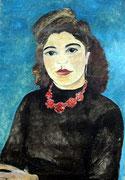 Margrit Schweicher; Porträt (unvollendet; ohne Titel); Öl auf Leinwand