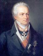 Karl A. Fürst von Hardenberg, der zweite Träger des EK2 1813 am weiß-schwarzen Band m.d. weiter verliehenen ersten Klasse, zeitgen. Abbildung