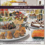 M&S Food Ordering Services brochure.