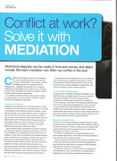 Article about mediation from a JobCentre Plus publication.