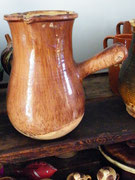 Tres grand modéle 27cm, XIXeme, St Jean de Fos , brun clair moucheté superbe