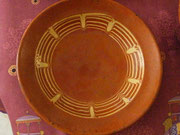 Decor dit à la plume et pinceau milieu XIXeme 28cm ,Tarn
