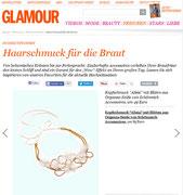 Haarschmuck für die Braut - Schönmich Brauthaarschmuck auf Glamour Magazine