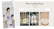 Artikel über die Kollektion Farbenpracht für Hochzeiten und Braut. Wunderschöne farbiger Brauthaarschmuck oder ihr Haarschmuck für einen Sommerfest.