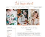 inspirationsideen glamouroese nostalgie mit rosa romantik und Haarschmuck